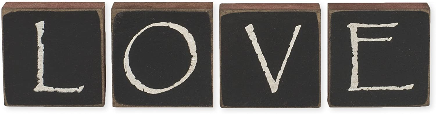 LOVE Wood Block Letters by The Hearthside Collection