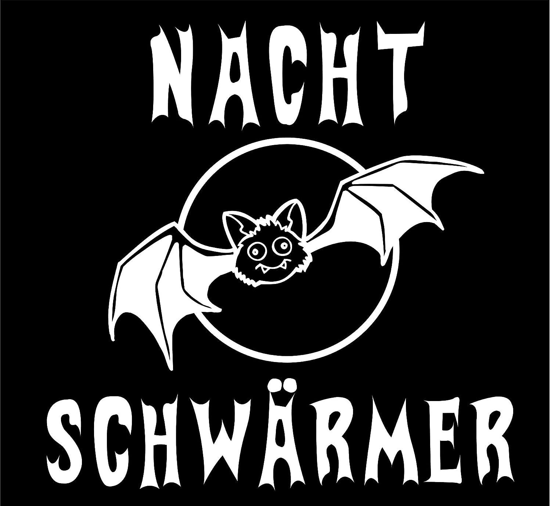 T-Shirt Fun-T-Shirt Nachtschw/ärmer bedruckt mit Folie 2XL