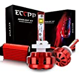 880 LED Headlight,ECCPP Upgraded LED Headlight Bulbs Conversion Kit High Power Bright- 880 - 80W,9600Lm 6K Cool White CREE- 3 Year Warranty