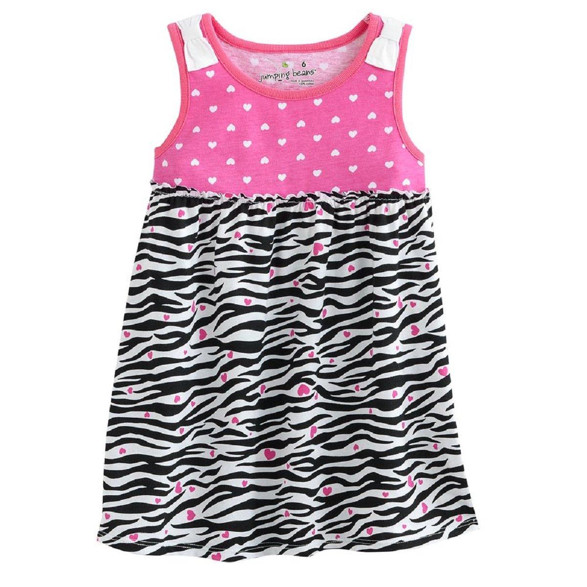 8dfc6584 Amazon.com: Jumping Beans Toddler Little Girls' Babydoll Dress (2T, White  Zebra): Clothing