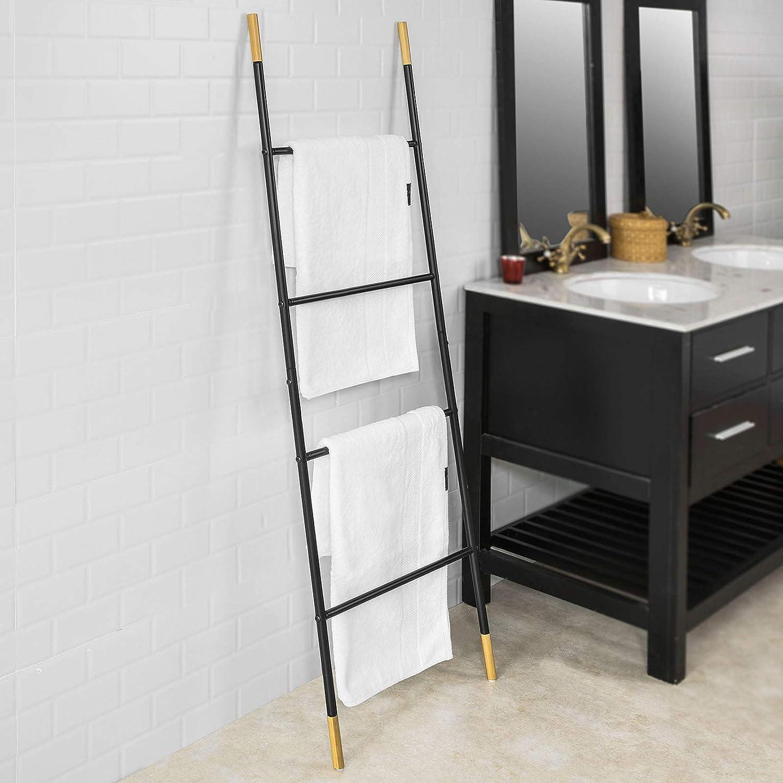 SoBuy FRG264-SCH Toallero escalera para apoyar en la pared, Práctico colgador de toallas con 4 barras, ES: Amazon.es: Bricolaje y herramientas