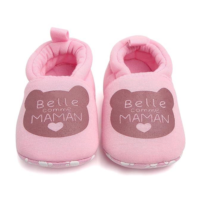 6-9 3-6 Mois Chaussures Premiers Pas 9-12 Chaussures B/éb/é Binggong Chaussures Chaussures B/éb/é en Cuir Souple Chaussons B/éb/é