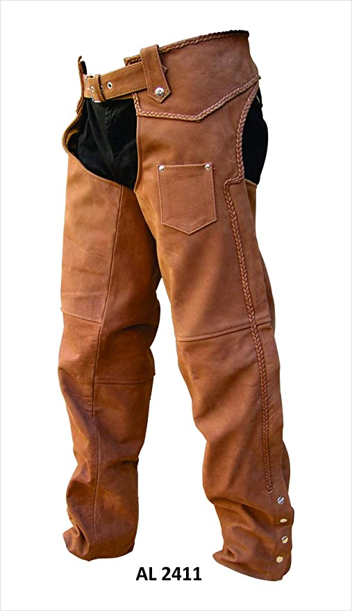 Unisex Adult AL2411 Chaps X-Small Brown