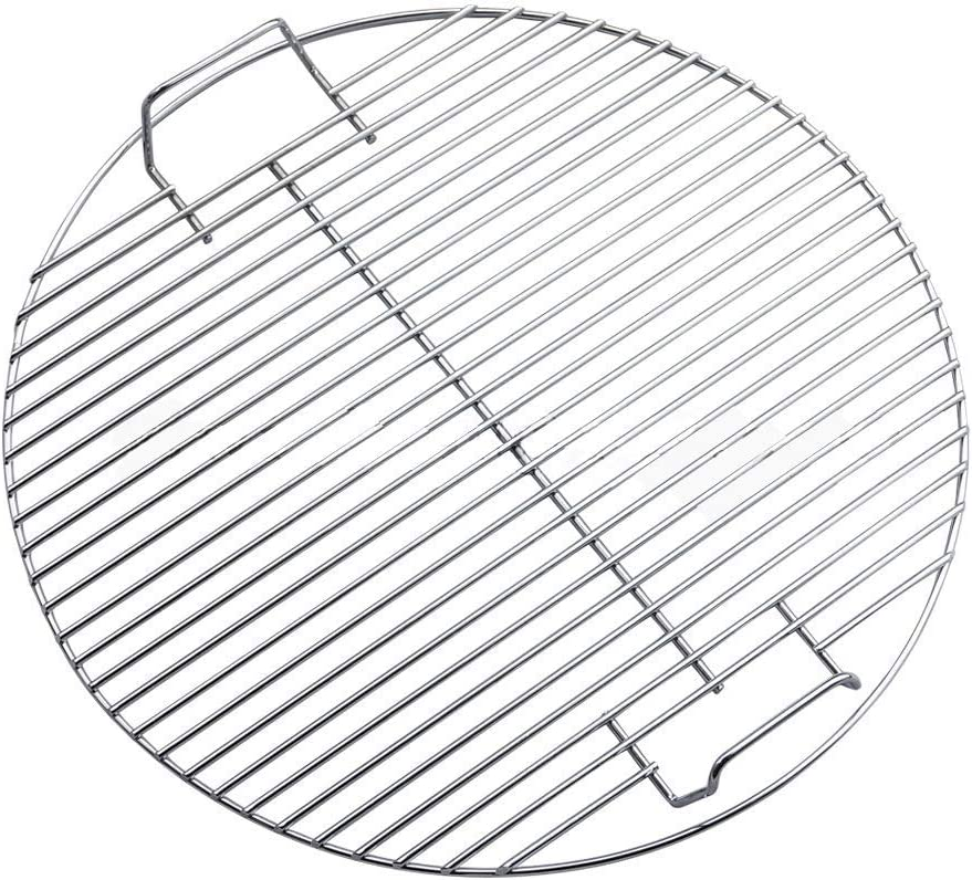 Mackur - Parrilla Redonda de Acero Inoxidable para barbacoas Grandes (46 cm)