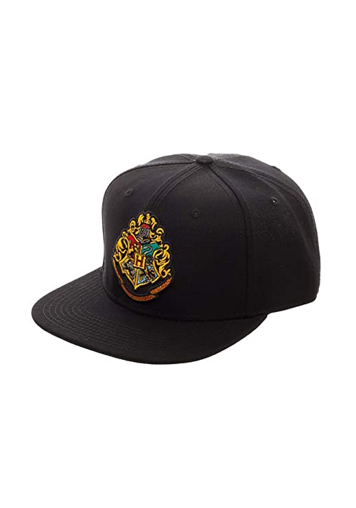 Amazon.com  Hogwarts Crest Snap Back Hat Standard Black  Clothing b6a66727b6c6