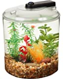 KollerCraft 1.5 Gallon 360 View Aquarium with LED Lighting