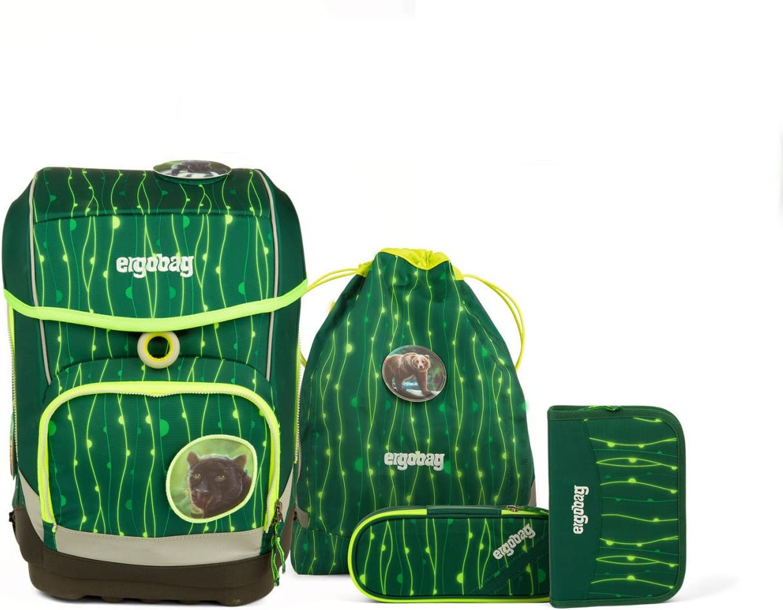 Ergobag Cubo Light B/ärzaubernd Schulranzen Set 5tlg Verschiedene Kletties