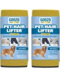 Gonzo Pet Hair Remover - 2 Pack - Lift and Remove Dog, Cat and Other Pet Hair from Furniture, Carpet, Bedding and Clothing