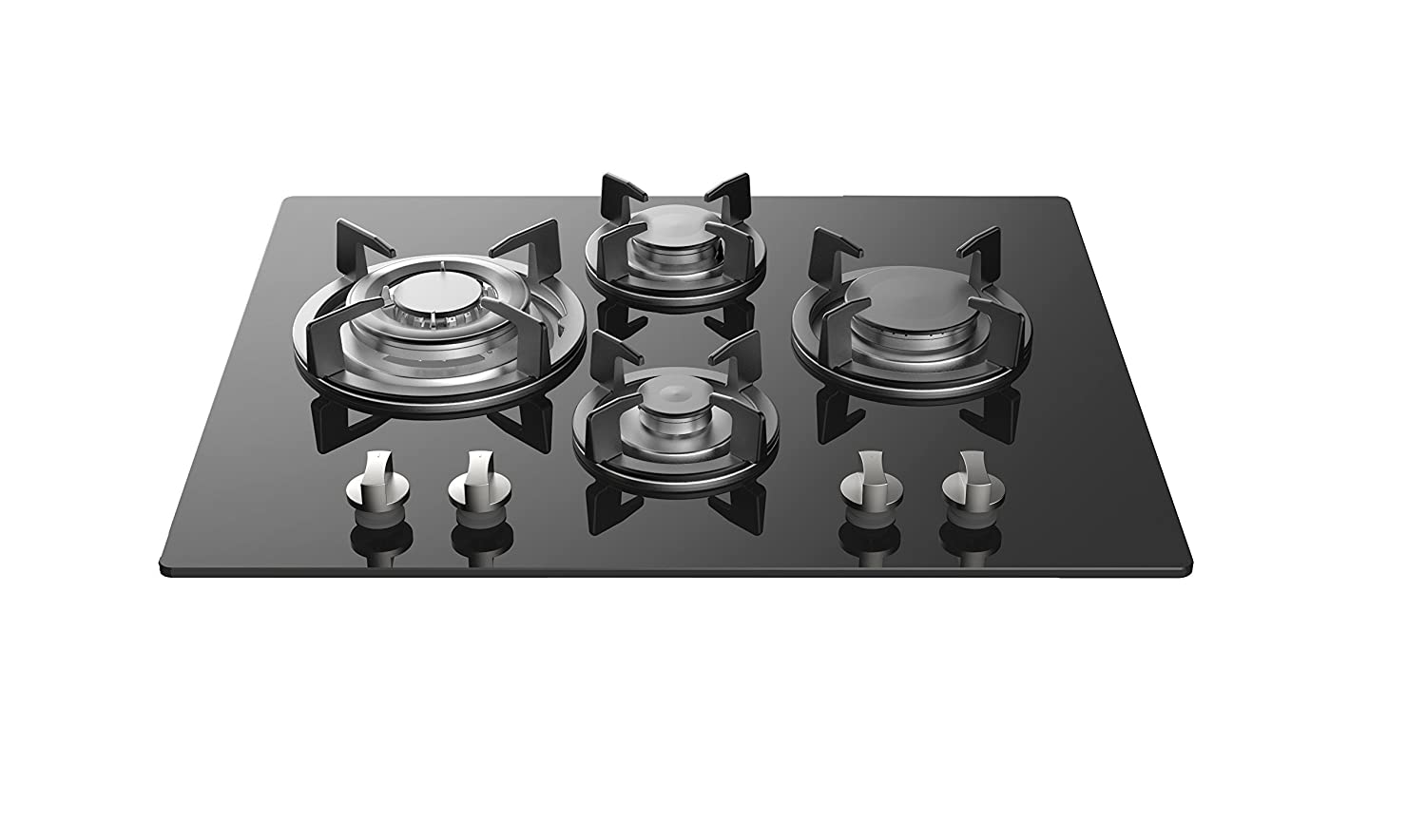 Empava 24' Tempered Glass 4 Italy Imported Sabaf Burners Stove Tops Gas Cooktop EMPV-24GC4L67A