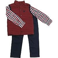Coccolato Conjunto de Niño/Ropa para bebé de 12 Meses a 4 años / 2 Piezas Chaleco ahulado simulado con Camisa y pantalón…