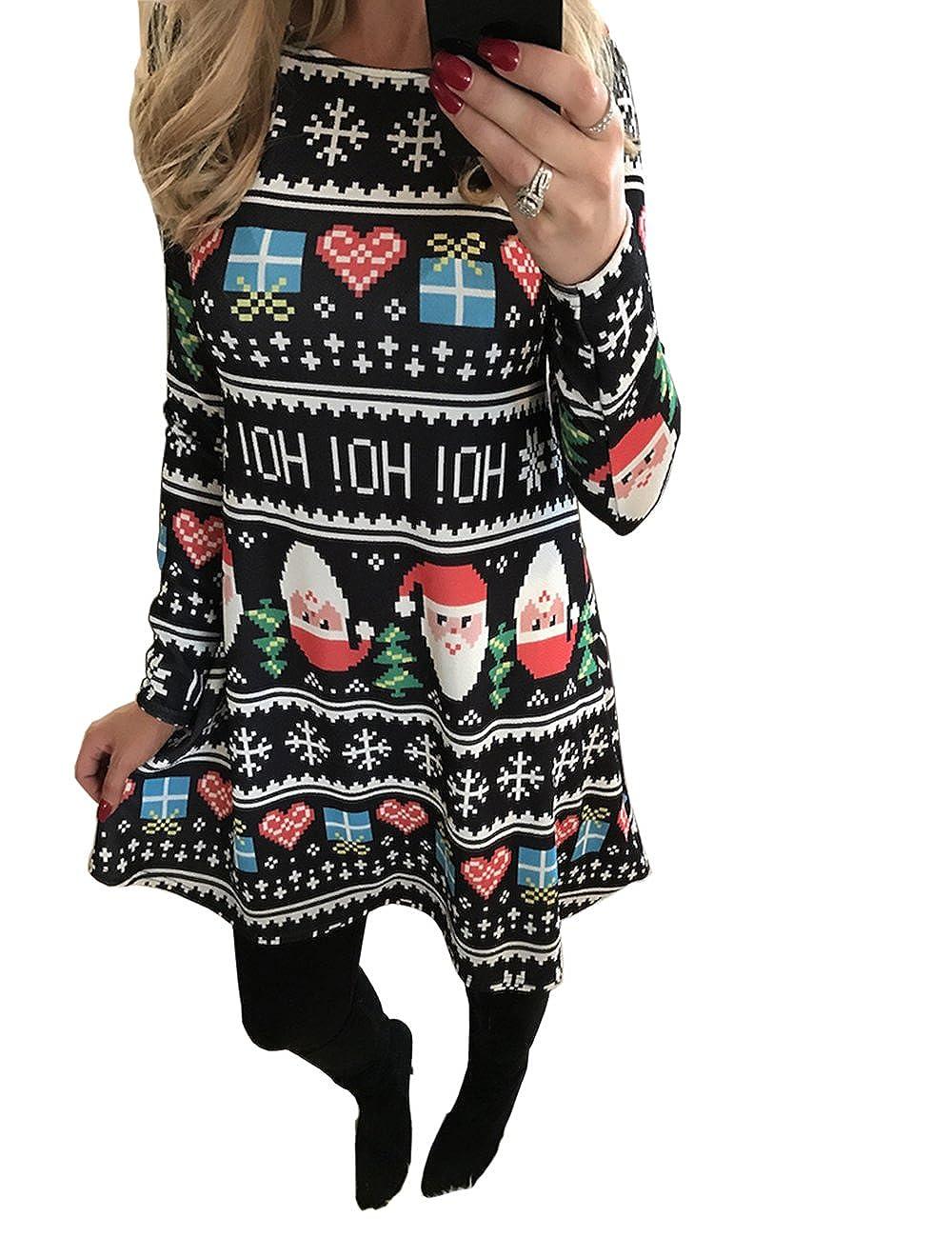 Ruiyige Frauen Mädchen Weihnachten Kleid Santa Weihnachten Geschenk ...