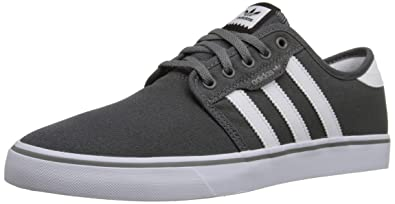 hot sale online fc2e7 2c074 adidas Men s Seeley Skate Shoe,Ash Grey White Black,4 ...