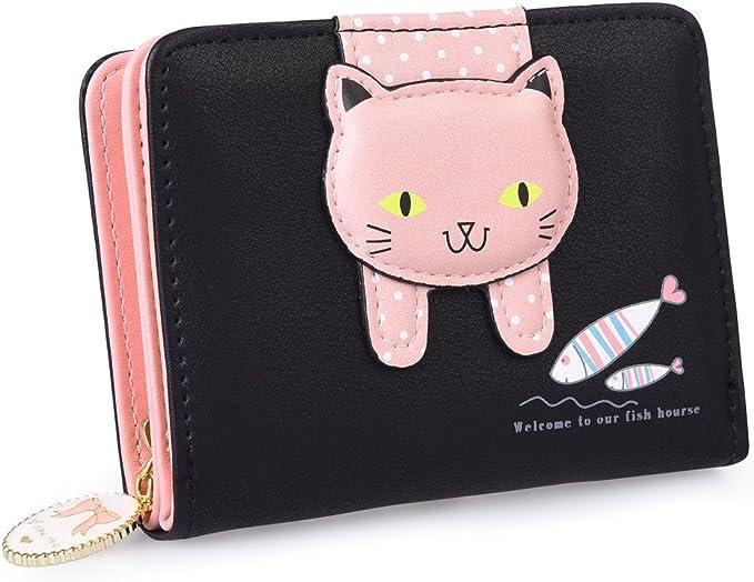 New Ladies Womens Girls 3D Cat Purse Zipped Wallet Bi-Folding Super Quality