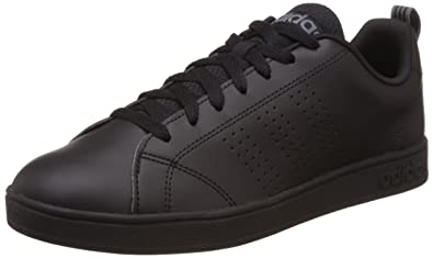 brand new b207e a8234 adidas neo neo Men s Advantage Clean Vs Cblack, Cblack and Lead Leather  Sneakers - 10