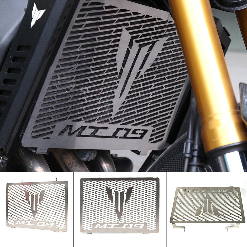 Radiator Grille Guard Accesorios de la motocicleta Rejilla del radiador Protector de la cubierta Protector Red de protecció n del tanque de combustible para YAMAHA MT09 MT-09 2014 2015 2016 RDMT09ES