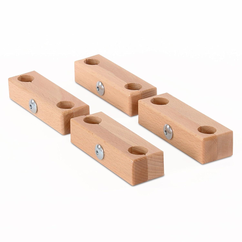babybay 100601 - Accesorio de fijación - para babybay original, maxi y medio, madera natural barnizado