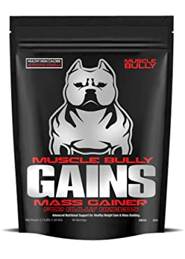 Muscle Bully Gains for Bullies (90 Serving) A Healthy Weight Gainer Supplement for Dogs