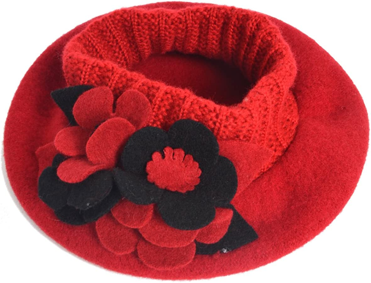 F&N STORY Lady French Beret Wool Beret Chic Beanie Winter Hat Jf-br034 (HY022-Black) at  Women's Clothing store