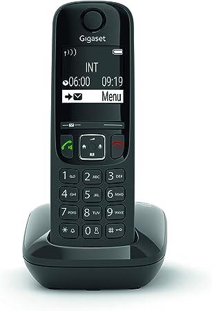 Gigaset AS690 - Teléfono inalámbrico, manos libres, pantall de gran contraste, agenda de 100 contactos, Color Negro: Gigaset: Amazon.es: Electrónica