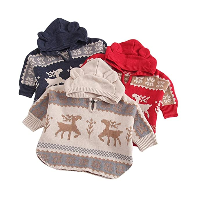 AIMEE7 Ropa niña, Abrigos niña Invierno Chico Chica Bebé con Capucha Navidad Deer Outwear Cloak Jacket Coat Otoño Invierno: Amazon.es: Ropa y accesorios
