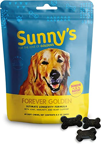 Supplement Chews for Golden Retrievers – Supports Healthy Skin, Joints, Immunity and Overall Health Longevity of Golden Retrievers – Premium Non-GMO Ingredients – Made in The USA