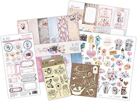 KIT para scrapbooking -Hello Spring: Amazon.es: Hogar