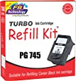 TURBO Ink Cartridge Refill Kit for Canon 745 (Black)