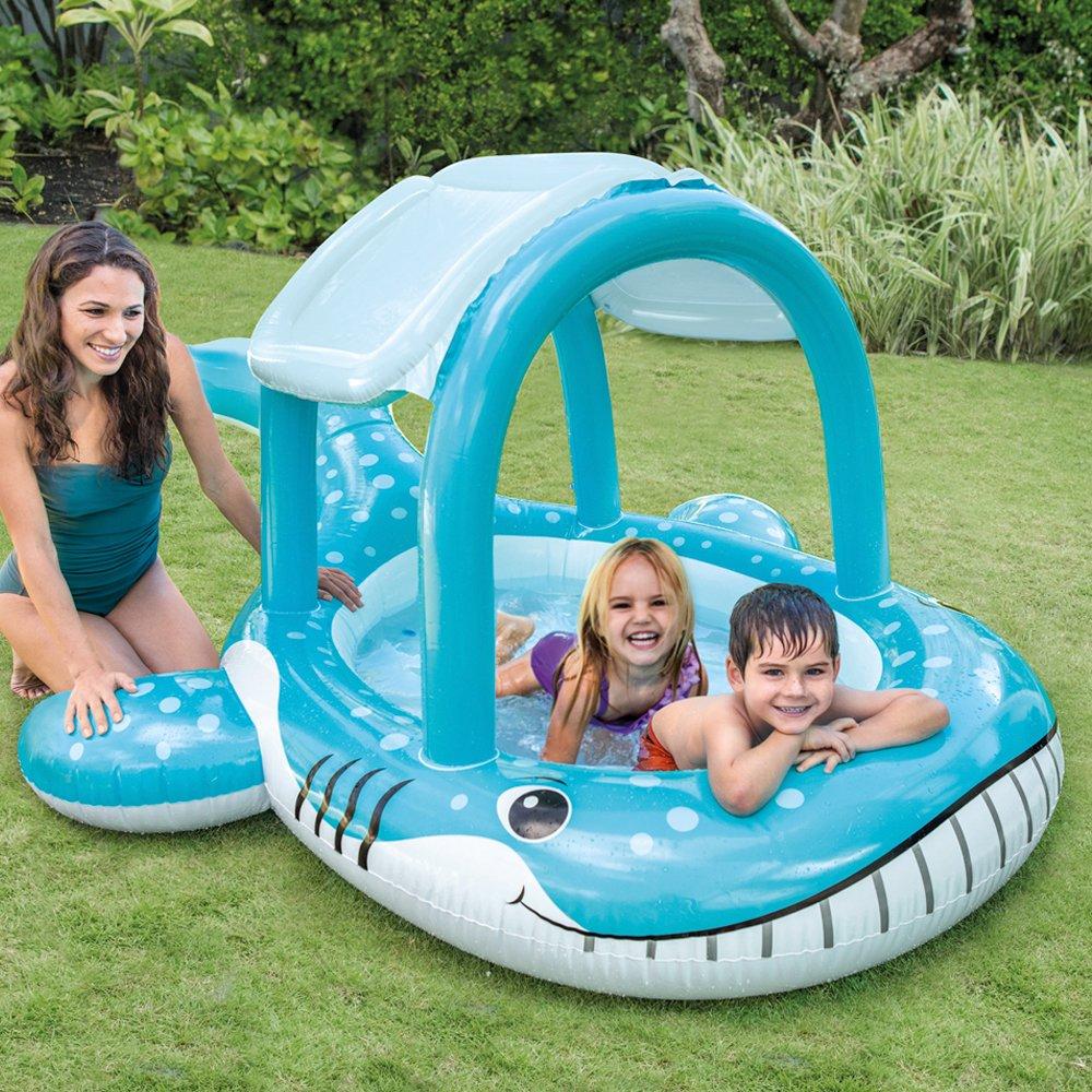 Piscina gonfiabile intex 57125 balena parasole 211x185x109 - Gonfiabili piscina amazon ...