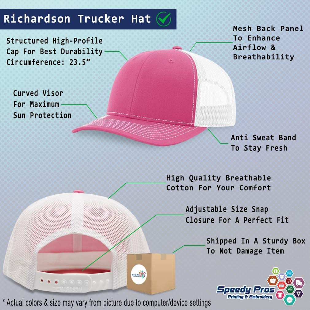 Custom Richardson Trucker Hat Arizona State Flag Embroidery Design Polyester