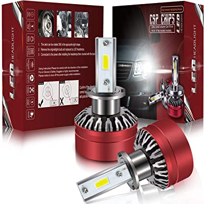 LED Headlight Bulbs Conversion Kit -H3,Prime Led 6000Lm 6000K Cool White 400% Brighter than Halogen: Automotive