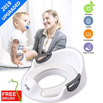 beb680166867 Potty Training Seat for Boys Girls Toddlers Kids Toilet Seat for Baby with  Cushion Handle Backrest and Splash...
