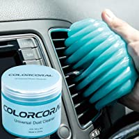 ColorCoral Cleaning Gel Universal Gel Cleaner for Car Vent Keyboard Auto Cleaning Putty Dashboard Dust Remover Putty Auto Duster Cleaning Kit 160G