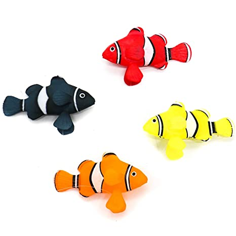 Merveilleux HUELE 4pcs Fake Fish For Aquarium, Silicone Tropical Fish Aquarium  Decorations For Fish Tank