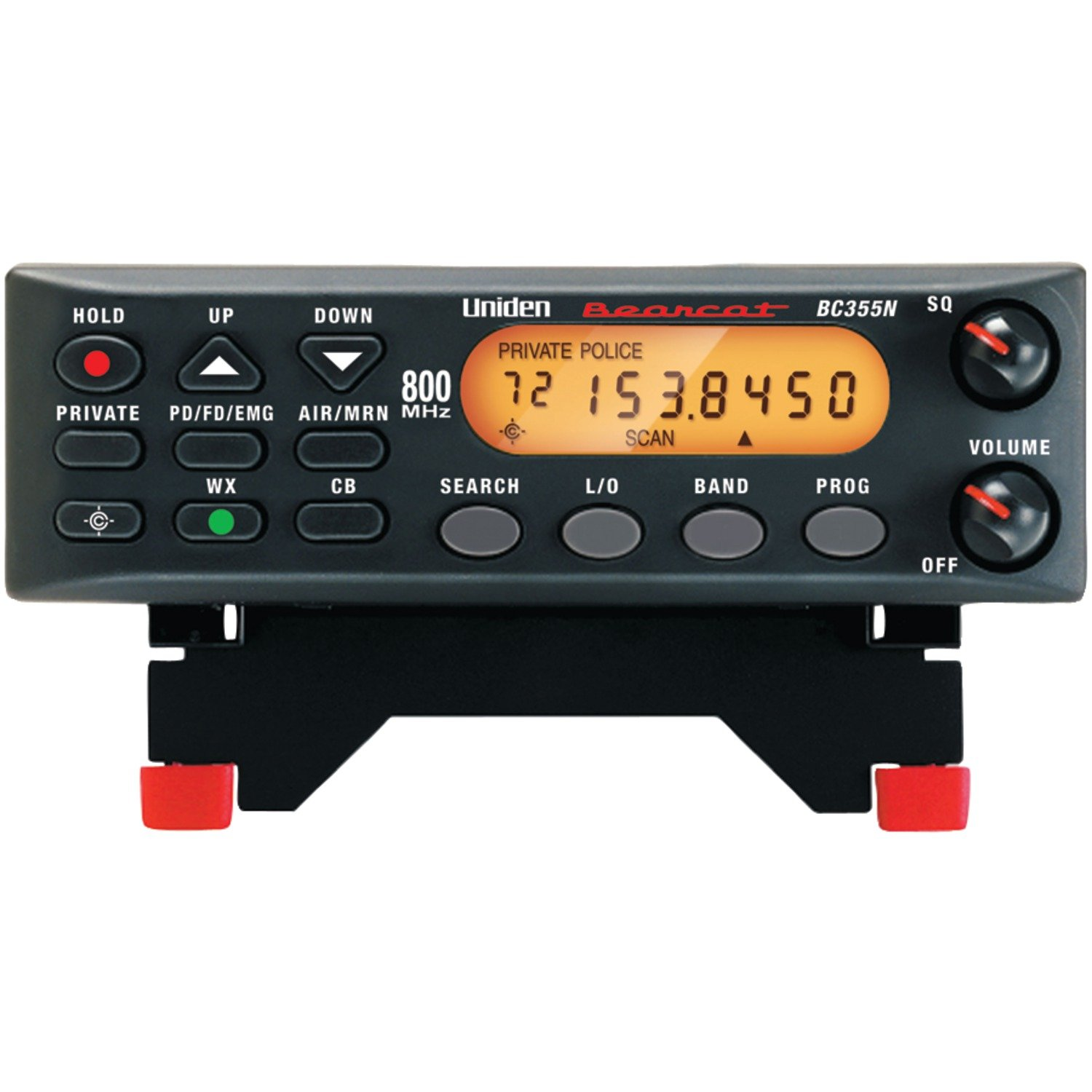 "Uniden BC355N 800 MHz 300-Channel Base/Mobile Scanner. Close Call RF Capture Technology. Pre-programmed Service Search. ""Action"" Bands to Hear Police, Ambulance, Fire, Amateur Radio, Public Utilities, Weather, and More."