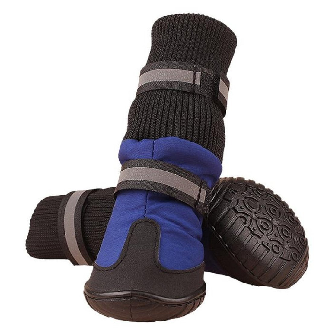 SODIAL(R) Big Dog Soft Waterproof Boots for Large Dog Shoes - Blue XL