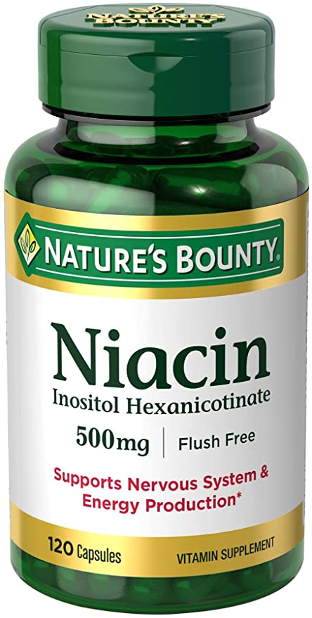 Natures Bounty - niacina Inositol Hexanicotinate 500 mg. - 120 cápsulas
