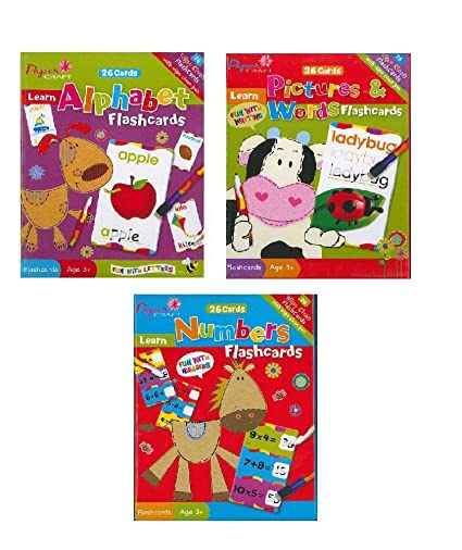 Amazon Com Learning Flash Cards For Kids Alphabet Numbers