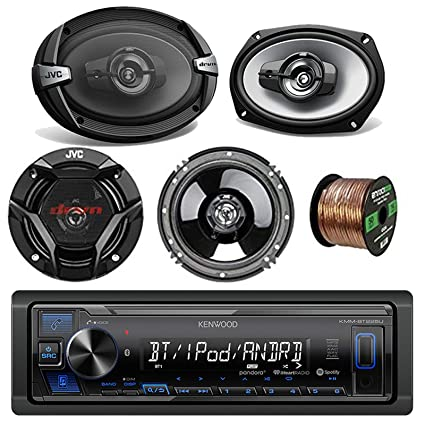 Kenwood Car Stereo Bluetooth Digital Receiver Bundle Combo with 2x JVC  CS-DR6930 6x9