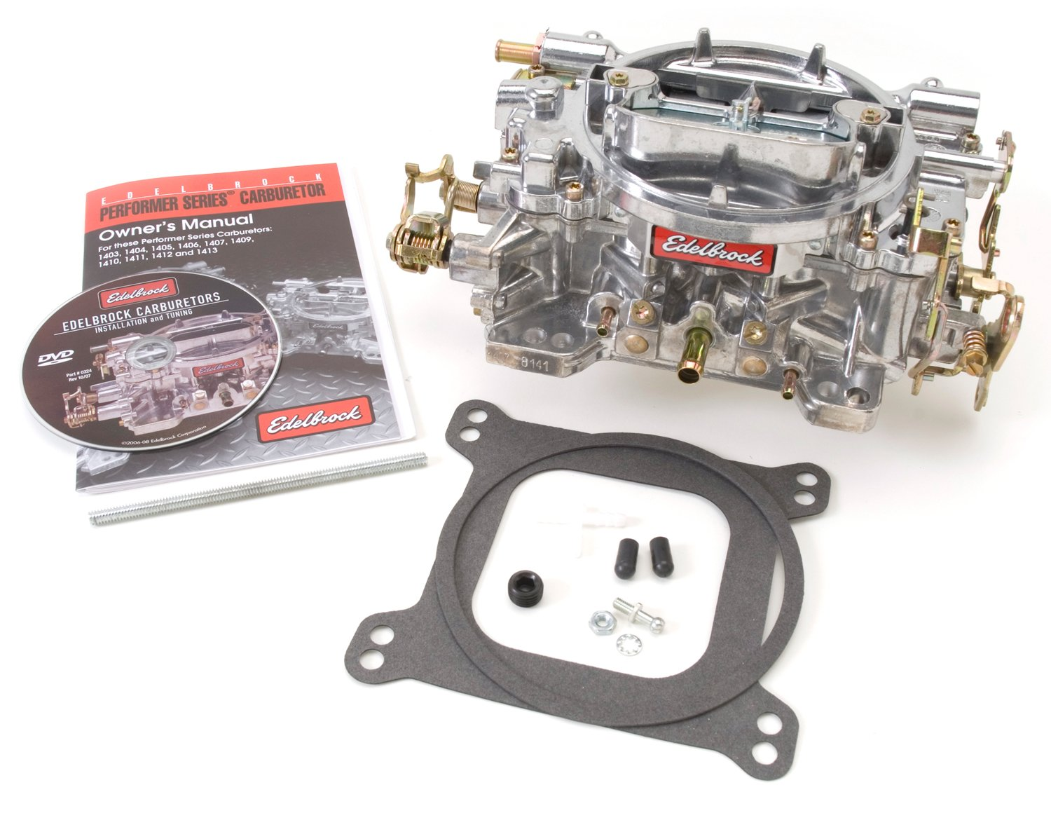 Edelbrock 1407 Performer 750 CFM Square Bore 4-Barrel Air Valve Secondary Manual Choke New Carburetor by Edelbrock