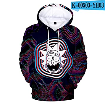 XIAOJIE The New Rick and Morty Hoodies 3D Sudadera Hombres Marca ...