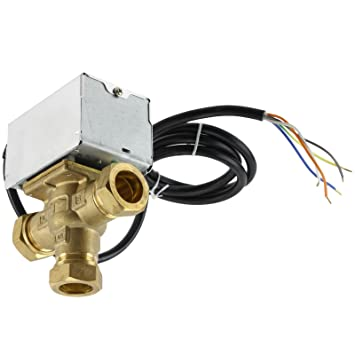 Astounding Spares2Go 5 Wire 22Mm Motorised 3 Port Mid Position Valve For Wiring Digital Resources Indicompassionincorg