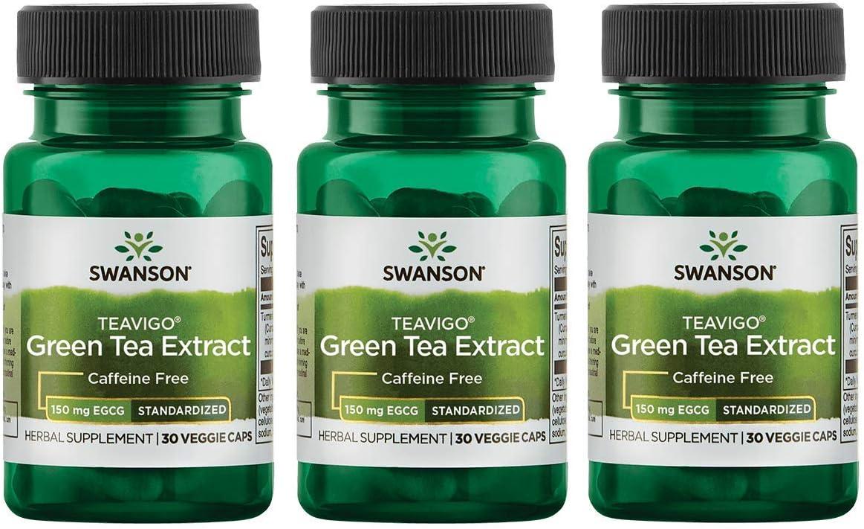 Swanson Teavigo Green Tea Extract 90 Egcg 30 Veg Capsules 3 Pack