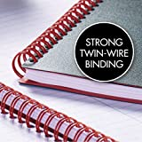 "Black n' Red Twin Wire Poly Cover Notebook, 11-3/4"" x 8-1/4"", Black/Red, 70 Ruled Sheets"