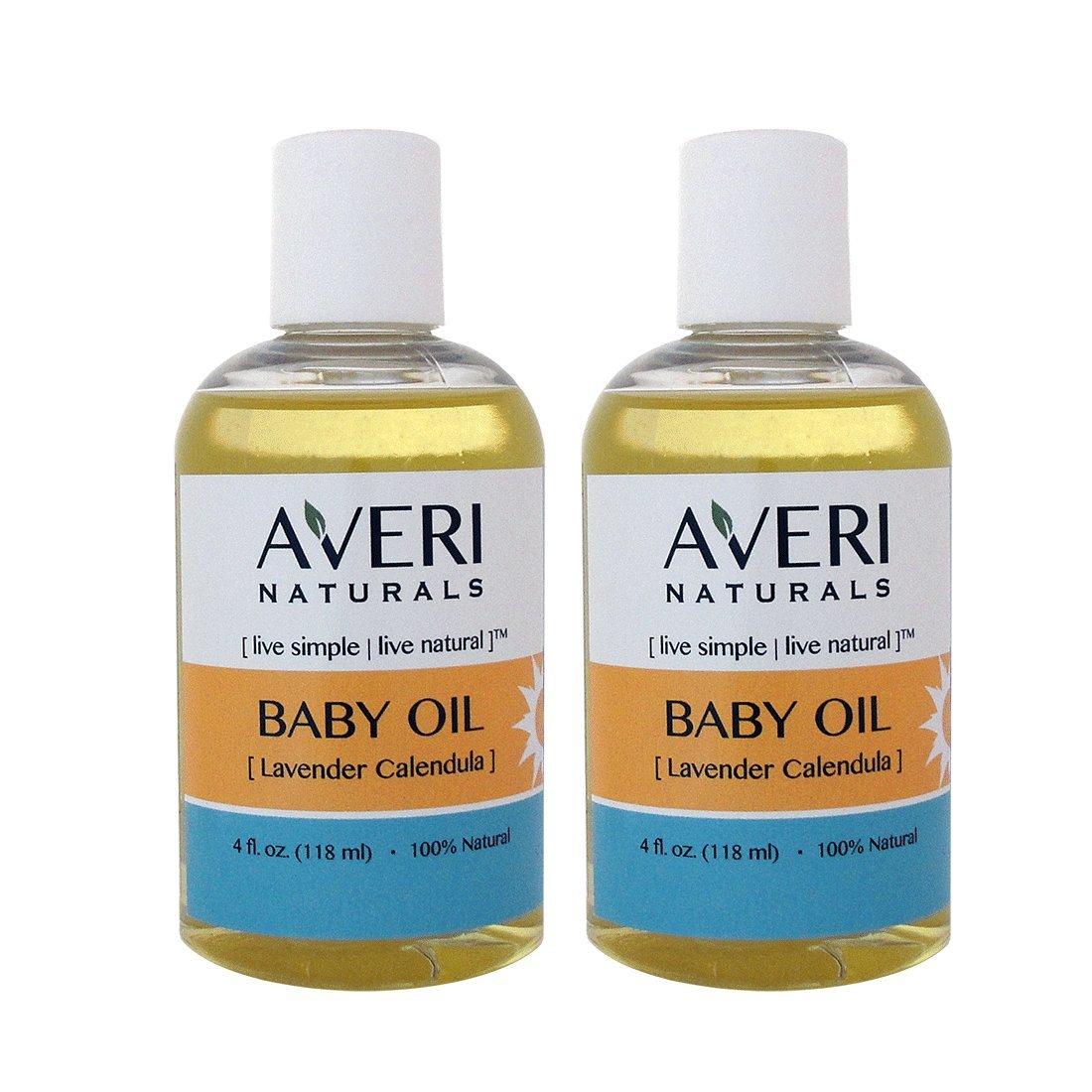 Averi Naturals Calendula Baby Massage Oil • 100% Natural • with Organic Sunflower and Jojoba Oils • 4 oz • FREE SHIPPING (2)