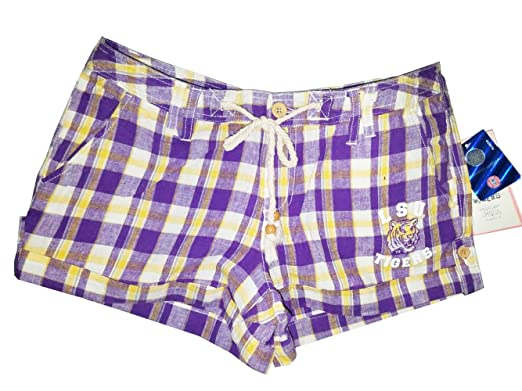 4c529d222c58 LSU Tigers Women's Purple & Gold Plaid Shorts at Amazon Women's ...