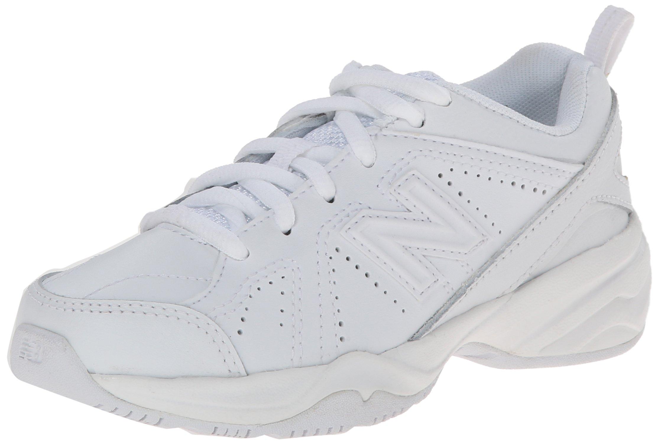 New Balance Boys KX624 Lace-Up Training Shoe ,White,13.5 M US Little Kid