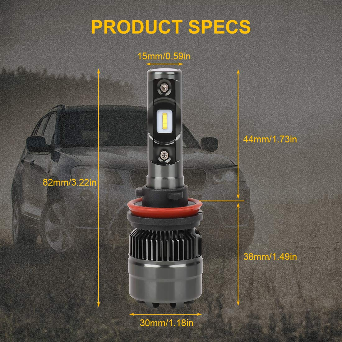 Adjustable Beam 24x CSP Chips 10000Lm 6500K 80W Cool White 2 Yr Warranty Drisharp H4//9003//HB2 LED Headlight Bulbs Hi//Lo Beam Conversion Kit DOT Approved