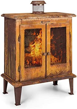 Blumfeldt Flame Locker Fire Pit Garden Fireplace Patio Stove Rustic Rust Look Fire Bowl 58 X 30 Cm Fireview Solid And Sturdy Steel Construction Rust Brown Amazon De Baumarkt