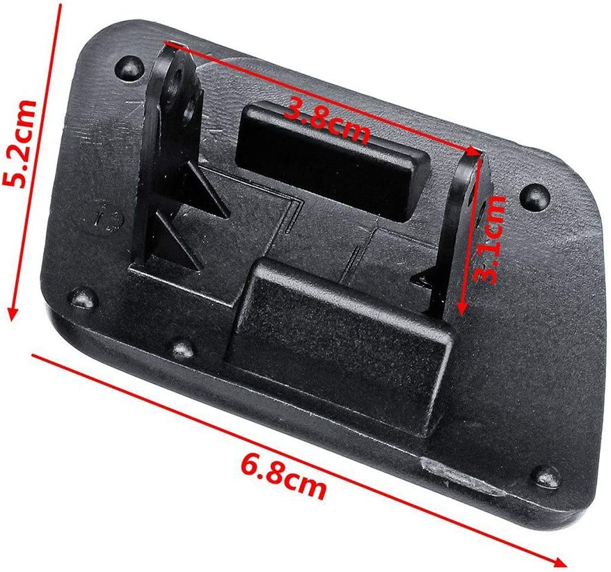 Toogoo Links Rechts Vorne Scheinwerfer Wasch Sprayer Abdeckung Kappe Lr Schwarz Farbe Für Golf 4 Iv Mk4 1998 2006 Auto