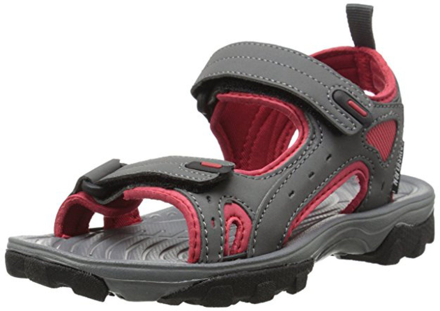 Northside Kid's Riverside II Summer Sandal, Gray/Red, 6 M US Big Kid; with a Waterproof Wet Dry Bag
